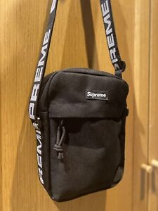 New Supreme SS18 Unisex Summer Messenger Shoulder Bag Black