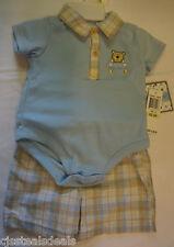 Little By Little 2 Pc Teddybear Creeper & shorts 3-6 mo