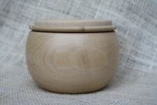 """3.5"""" Sycamore Wood Handcrafted Art Pottery Bowl Reversible Lid Signed ESPO90.com"""