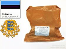Estonia Ration Box. Military Ration - 24h - MRE MENU 4. BBE: 02-2020. 3763 kcal
