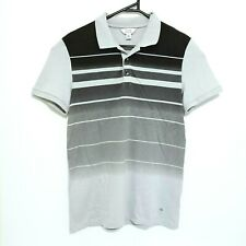 Calvin Klein Mens Shirt Size M Extreme Slim Fit Grey Short Sleeve Collared Polo