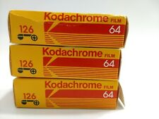 Lot of 3 Kodak Kodachrome Iso 64 126 20 Exp. Color Slide Film - Expired 1988