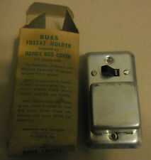 Vintage Buss Fustat Holder Mounted On Handy Box Cover With Box Fuse