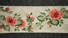 *Bulk Listing* Pink Flowers w/ Green Vines & Leaves on Beige Trellis 233B33992