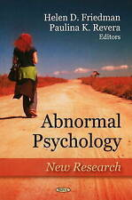 Abnormal Psychology: New Research - New Book