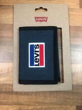 New Levis Blue Fabric with Red Logo Bifold Card Holder/Wallet RRP £32