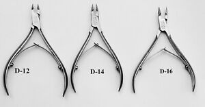 Nisa Steel laser sharp Spring New (Jaw 12,14,16)Cuticle Nippers Stainless