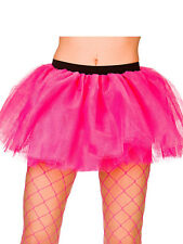 Adult 3 Layer Hot Pink Tutu Skirt New Fancy Dress Hen Night Party Halloween