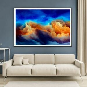 Colorful Clouds Abstract Design Print Premium Poster High Quality choose sizes