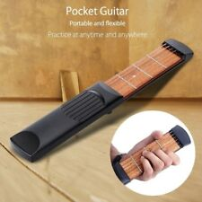 Pocket 6 String Guitar Bass Practice Tool Gadget 4 Fret Model with Bag YA9C