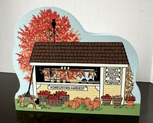 2010 Cats Meow Wood Shelf Sitter Collectors Club Edition Homegrown Harvest