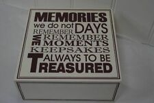 Wooden Square Decorative Keepsake Boxes
