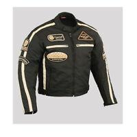 Herren Sommer Motorrad jacke.Motorrad Jacke Schwarz. Biker Jacke.Gr.S-5XL