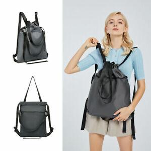 Multi Way Rucksack Unisex Drawstring Backpack Nylon Sport Shoulder Fitness Bag