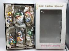 Inge Glas ⭐️⭐️ Christbaumschmuck Babys first Christmas 12 cm ⭐️⭐️ Neuware