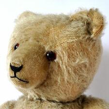 Alter TEDDYBÄR, Glasaugen / Holzwolle,  45 cm, 50er Jahre
