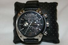 Diesel Men's Silver Black Chrono Ms9 Silicone Strap Watch DZ4483 $200 NWT