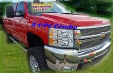 2008 2010 08 09 10 Chevy Silverado 2500 2500HD 3500 3500HD Billet Grille 4PC