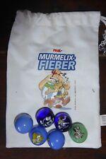 Murmelix-Fieber von real,- 2012 - 6 Murmeln im Original-Säckchen Asterix-Serie