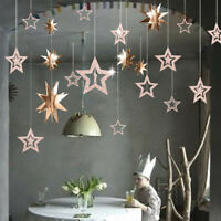 Stars Hanging Paper Garlands Wedding Party Birthday Baby Shower Home Decorations