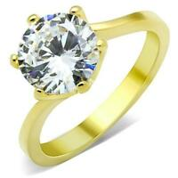 ROUND SOLITAIRE ENGAGEMENT RUSSIAN LAB CREATED SIM DIAMOND RING WEDDING TK1406