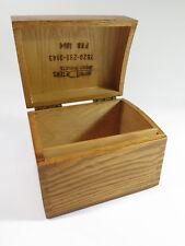 Vintage Peters Artist Wood Products Oak Index Card Filing Box — Feb 1964