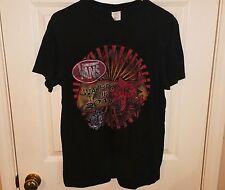 VANS WARPED TOUR 2012 Black 2-Sided Concert T-Shirt w/ Band List Mens Medium