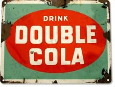 Double Cola Retro Soda Coke Rustic Metal Decor Sign