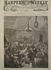 MEETING OF A RED REPUBLICAN CLUB IN PARIS FRANCE HARPER'S WEEKLY 1871