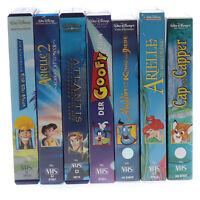 7x Walt Disney VHS Original Zeichentrick Sammlung Filme Videos Rar