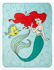 Disney: LITTLE MERMAID ARIEL AND FLOUNDER THROW BLANKET 48 x 60 New Princess