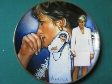 ANGELS AMONG US 2 COLLECTOR PLATES MOTHER THERESE AND DIANA PRINCES OF WALES
