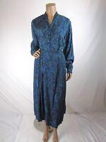 Vintage Pendleton Top Skirt Set Size 12 Blue Green Paisley Pleated Midi Skirt
