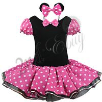 Baby Girl Kids Minnie Mouse Child Outfit Party Fancy Tutu Dress up Costume Ears