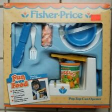 New Old Stock NIB Fisher Price Fun with Food Pop-Top Can Opener, 1987 unopened!