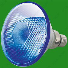 1x 80W PAR38 Blue Coloured Halogen Flood Reflector ES E27 Light Bulb Lamp