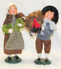 Byers Choice Pilgrim Thanksgiving Girl & Boy Carolers - New - Free Shipping