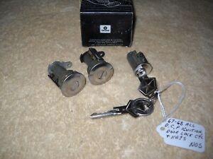 NOS Mopar 67-68 All Dodge Chrysler Plymouth Models Ignition & Door Locks & Keys