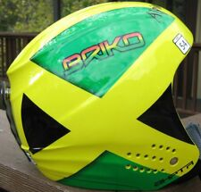 adult alpine ski helmet 54 briko rookie jamaica ski team green yellow orange nwt