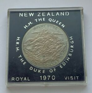 1970 NEW ZEALAND ROYAL VISIT ONE DOLLAR COIN