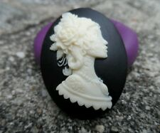 Gothic Tattoo Lady Cameo  Silicone push mold polymer clay resin SUGAR CRAFT