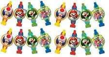 Super Mario Brothers Blowouts Birthday Decorations Party Favor Supplie (16ct)