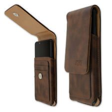 caseroxx Outdoor Case for HTC Wildfire X in brown made of real leather