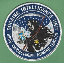 DEA DRUG ENFORCEMENT ADMINISTRATION COCAINE INTELLIGENCE UNIT POLICE PATCH