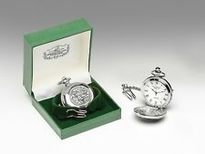 Mullingar Pewter Irish Pocket Watch p246g - Made in Ireland