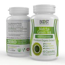 PREMIUM MATCHA GREEN TEA EXTRACT 95% POLYPHENOLS POTENT ANTIOXIDANT  60 CAPSULES