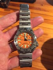 Seiko Orange Monster Driving watch nonworking for parts