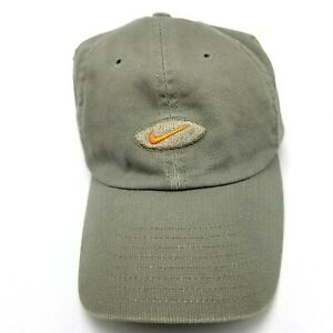 Nike Sports Hat Cap Size 7 Fitted Green Orange