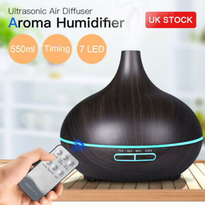 7 LED Ultrasonic Essential Oil Aroma Diffuser Air Purifier Mist Humidifier UK