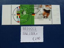 BRD 2002, Fußballweltmeister, Michel 2258/2259 waagr.Paar, o, Ersttagsstempel
